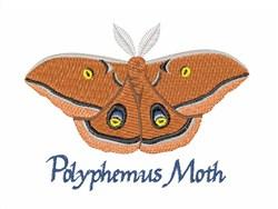 Polyphemus Moth embroidery design