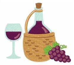 Wine embroidery design