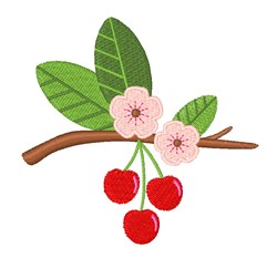 Cherry Fruit embroidery design