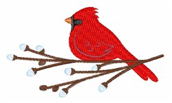 Cardinal Christmas embroidery design