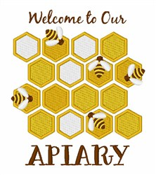 Welcome To Apiary embroidery design