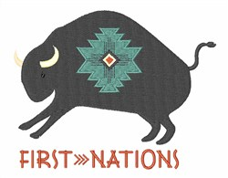 First Nations embroidery design