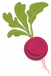 Fresh Radishes embroidery design