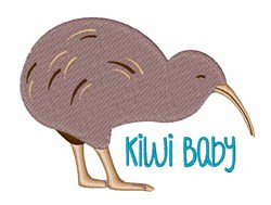 Kiwi Baby embroidery design