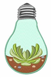 Succulent Light Bulb embroidery design