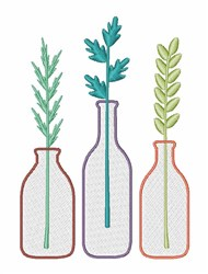 Plant Bottles embroidery design