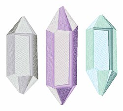 Crystals embroidery design