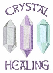 Crystals Healing embroidery design