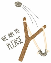 Aim To Please embroidery design