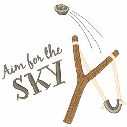 Aim For Sky embroidery design