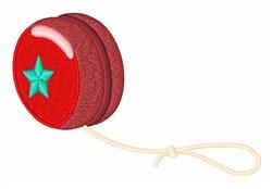 Yo-Yo Toy embroidery design