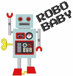 Robo Baby embroidery design