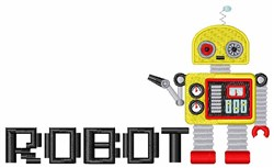 Toy Robot embroidery design