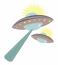 Alien Spacecrafts embroidery design