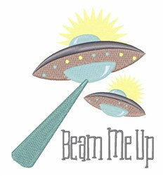 Beam Me Up embroidery design