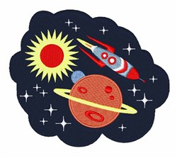 Outer Space embroidery design