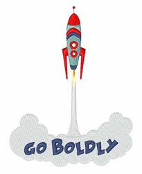 Go Boldly embroidery design
