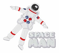 Space Man embroidery design