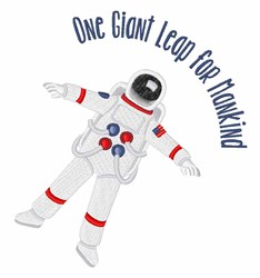 One Giant Leap embroidery design