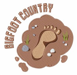 Bigfoot Country embroidery design
