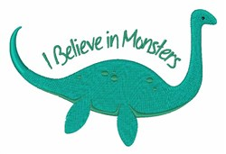 Believe In Monsters embroidery design