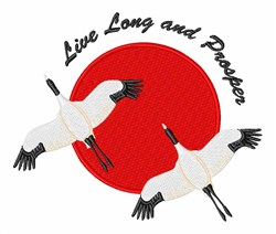 Live Long embroidery design