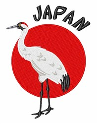 Sun Crane embroidery design