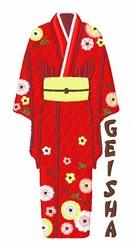 Geisha Kimono embroidery design