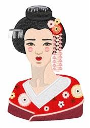 Japanese Geisha embroidery design