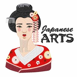 Japanese Arts embroidery design