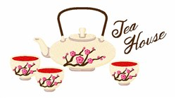 Tea House embroidery design