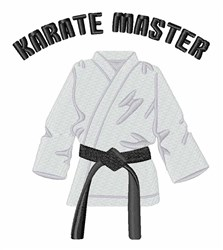 Karate Master embroidery design