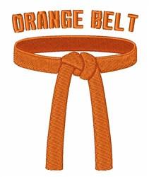 Orange Belt embroidery design