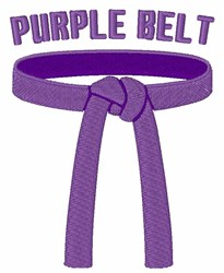 Purple Belt embroidery design