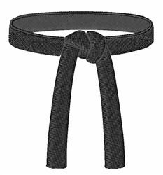 Black Belt embroidery design