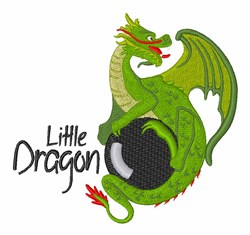 Little Dragon embroidery design