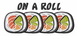On A Roll embroidery design