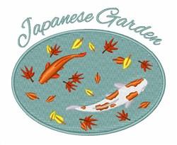 Japanese Garden embroidery design
