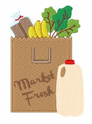 Market Fresh embroidery design