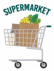 Supermarket embroidery design