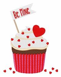 Be Mine Cupcake embroidery design