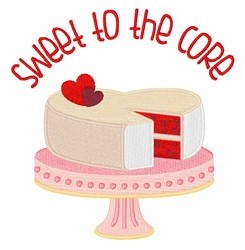 Sweet To Core embroidery design