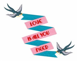 Love Is All embroidery design