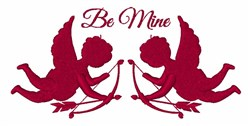 Be Mine Cupids embroidery design