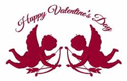 Happy Valentine Cupids embroidery design