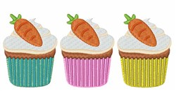 Carrot Cupcakes embroidery design