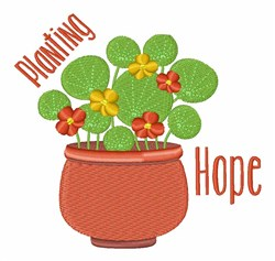 Planting Hope embroidery design