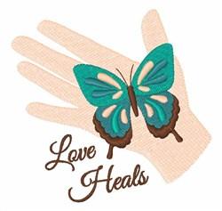 Love Heals embroidery design