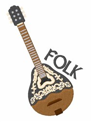 Folk Music embroidery design