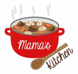 Mamas Kitchen embroidery design
